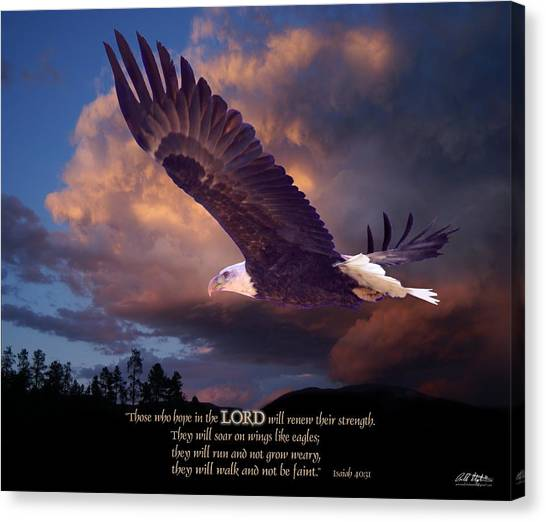 Bible Verses Canvas Print - Isaiah 40 31 by Bill Stephens