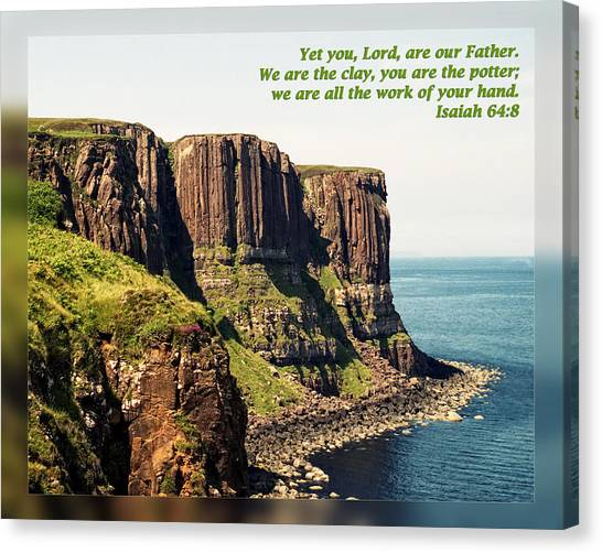Will Potter Canvas Print - Isaiah 64 8 by Dawn Currie