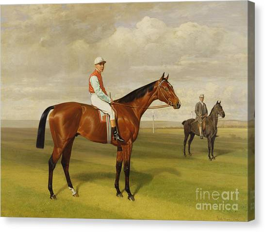 Horseracing Canvas Print - Isinglass Winner Of The 1893 Derby by Emil Adam