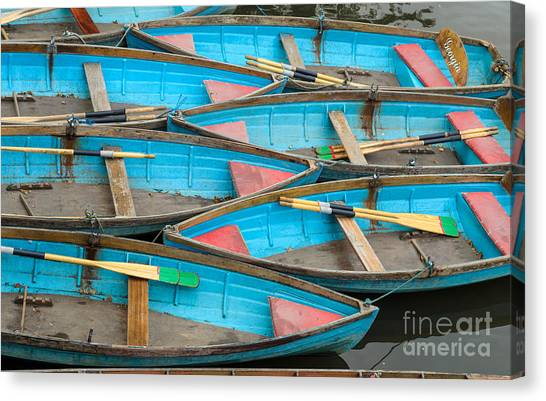 Isis Rowing Boats Canvas Print by OUAP Photography