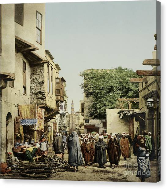 Aac Canvas Print - Islamic Funeral, Cairo, Egypt, 1906 by Getty Research Institute