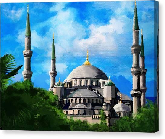 Jordan Canvas Print - Islamic Mosque by Catf