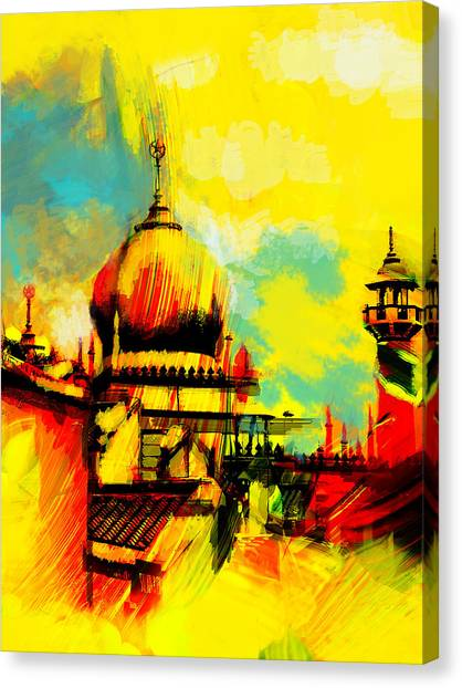 Pilgrimmage Canvas Print - Islamic Painting 001 by Catf