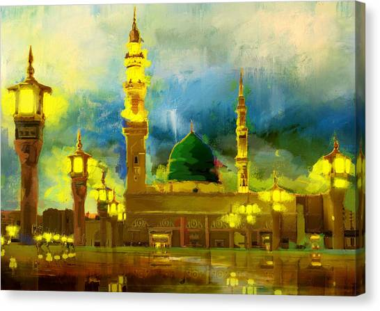 Pilgrimmage Canvas Print - Islamic Painting 002 by Corporate Art Task Force