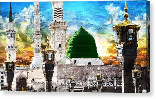 Islamic Art Canvas Print - Islamic Painting 004 by Catf