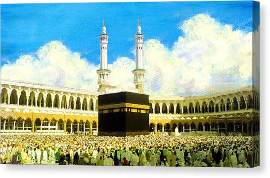 Pilgrimmage Canvas Print - Islamic Painting 006 by Catf