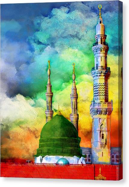 Jordan Canvas Print - Islamic Painting 009 by Catf