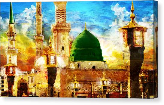 Pilgrimmage Canvas Print - Islamic Paintings 005 by Catf