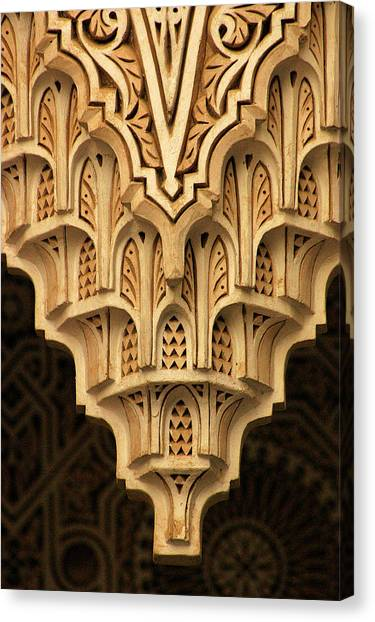 Islamic Plaster Work Canvas Print by PIXELS  XPOSED Ralph A Ledergerber Photography