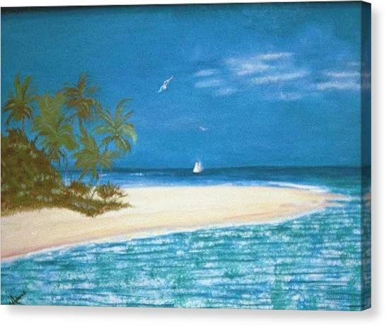 Island Beach Canvas Print