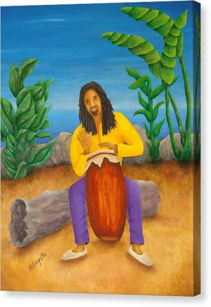 Banana Tree Canvas Print - Island Beat by Pamela Allegretto