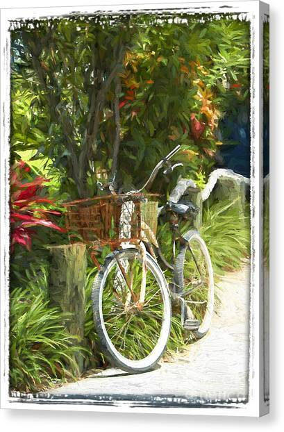 Island Bike Canvas Print