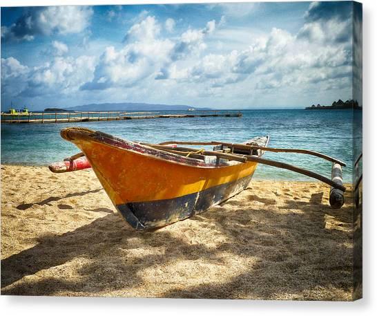 Island Boat Canvas Print