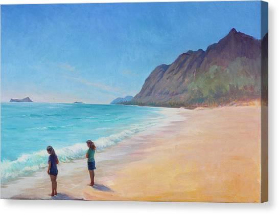 Island Breeze Canvas Print by Gwen Carroll