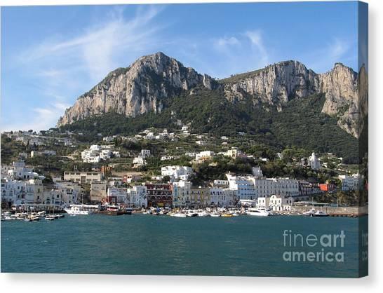 Architectur Canvas Print - Island Capri Panoramic Sea View by Kiril Stanchev