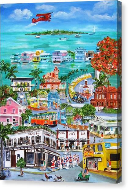 Coconut Canvas Print - Island Daze by Linda Cabrera