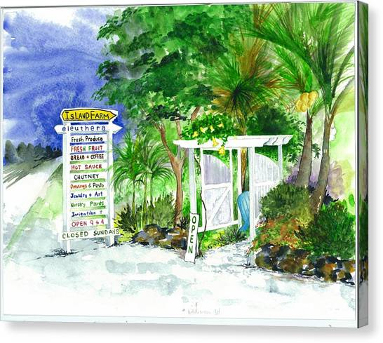 Eleuthera Art Canvas Print - Island Farm Eleuthera Bahamas by Maria McBride