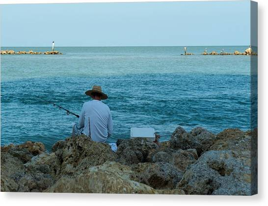 Island Fisherman Canvas Print