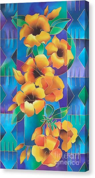 Island Flowers - Allamanda Canvas Print