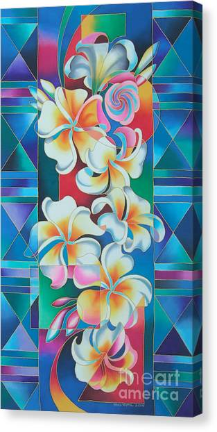 Island Flowers - Frangipani Canvas Print