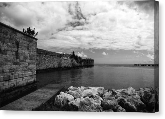 Island Fortress  Canvas Print