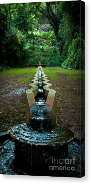 Island Fountain Canvas Print
