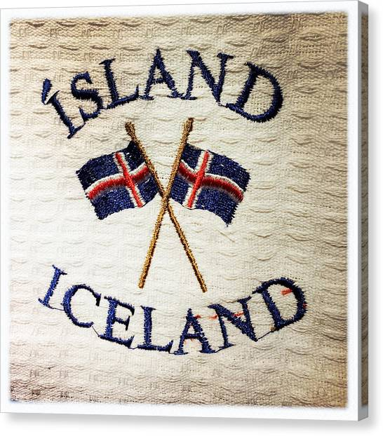 Flags Canvas Print - Island Iceland by Matthias Hauser