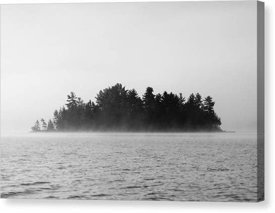 Island In The Mist Canvas Print