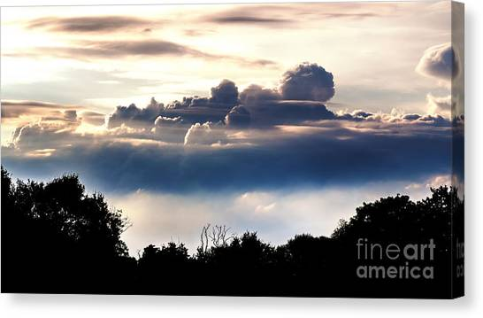 Island Of Clouds Canvas Print