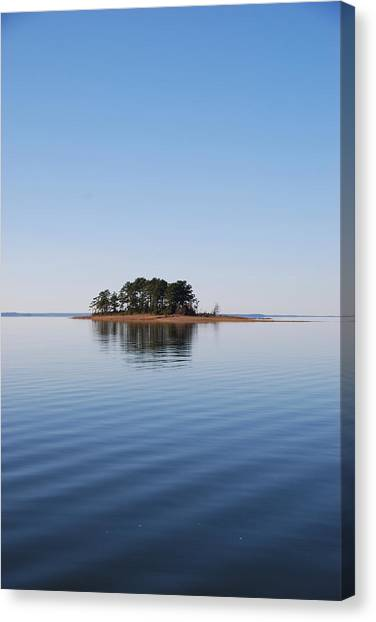 Island On Lake Sam Rayburn Canvas Print