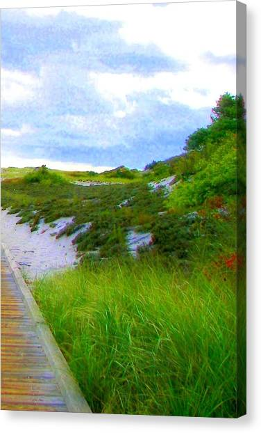 Island State Park Boardwalk Canvas Print