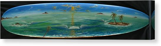 Island Surf Dreams Canvas Print