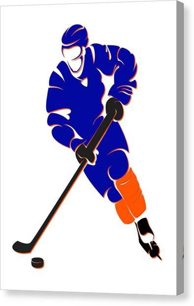 New York Islanders Canvas Print - Islanders Shadow Player by Joe Hamilton