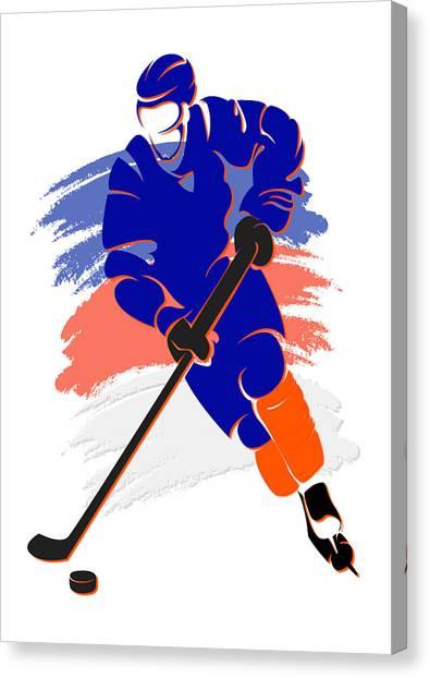 New York Islanders Canvas Print - Islanders Shadow Player2 by Joe Hamilton