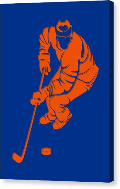 New York Islanders Canvas Print - Islanders Shadow Player3 by Joe Hamilton