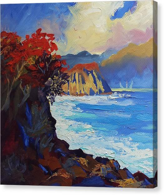 Islands Seascape Original Oil Painting Canvas Print