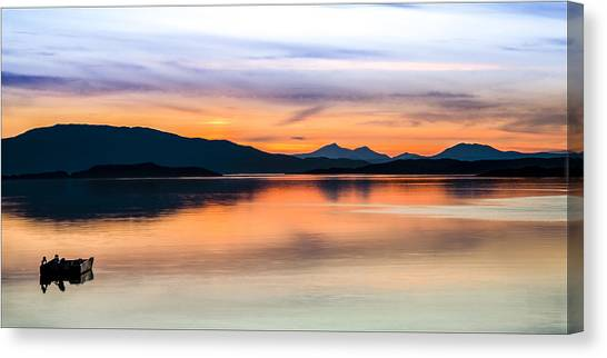 Sunset Isle Of Jura Scotland Canvas Print