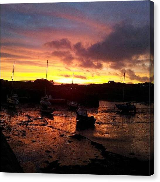 Harbors Canvas Print - Isle Of Whithorn Sunset by Iain Carter