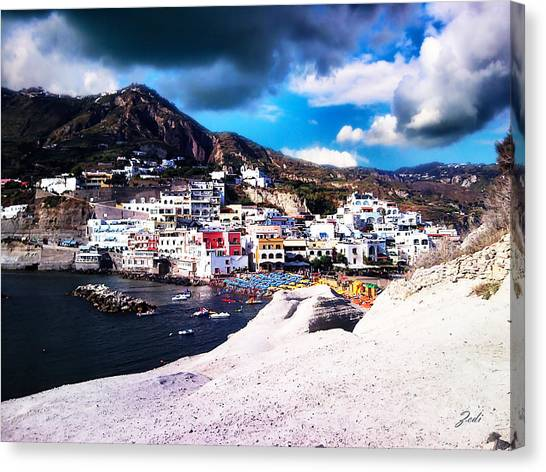 Isola Di Ischia Sant'angelo - The Island Of Ischia Sant'angelo Canvas Print