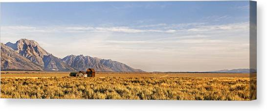 Isolated  Homestead   The Grand Tetons Canvas Print