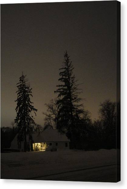 Isolated House Canvas Print by Guy Ricketts