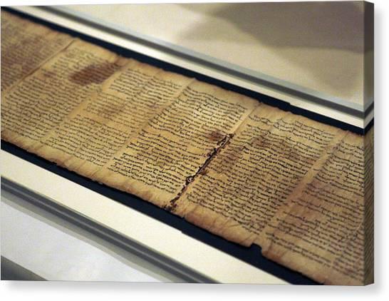 Israel Museum Displays Dead Sea Scrolls Canvas Print by Lior Mizrahi