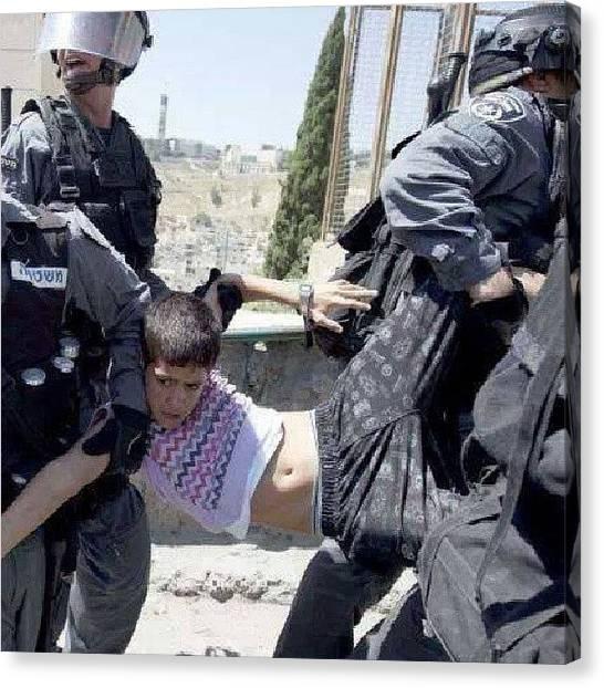 Palestinian Canvas Print - #israel Treatment Of #palestinian by Andrea Sveva Karshan