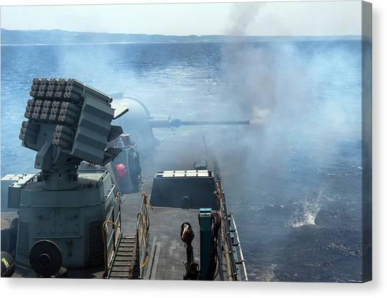 Israeli Canvas Print - Israeli Navy Missile Boat by Photostock-israel