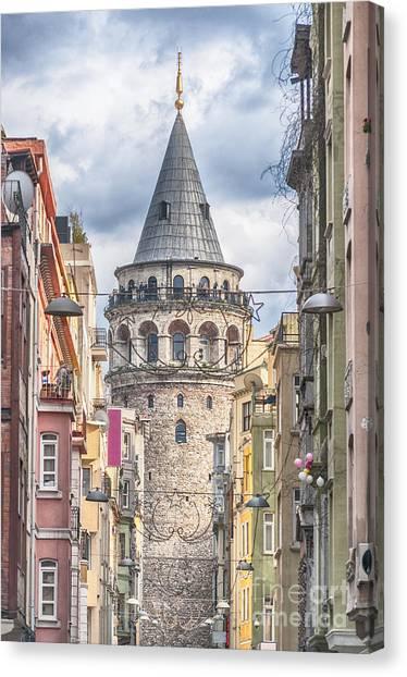 Istanbul Galata Tower Canvas Print
