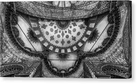 Mosques Canvas Print - Istanbul - Roof Art by Michael Jurek