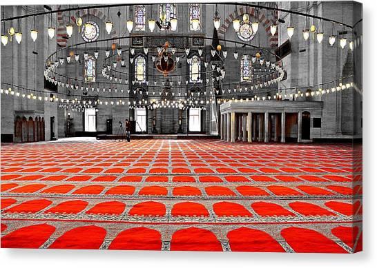 Suleymaniye Canvas Print - Istanbul SÜleymaniye Mosque by Michael Ludwig