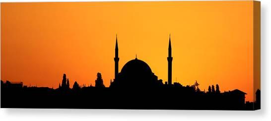 Suleymaniye Canvas Print - Istanbul Sunset by Stephen Stookey