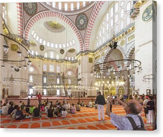 Suleymaniye Canvas Print - Istanbul, Turkey.  Suleymaniye Mosque by Ken Welsh