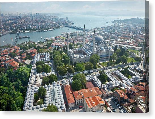 Suleymaniye Canvas Print - Istanbul by Ugurhan Betin